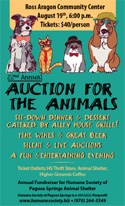 Auction for the Animals Poster